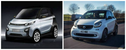Zotye E30 vs Smart Fortwo