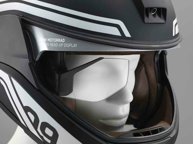 Casco con head-up display (Vía: revistamoto.com)