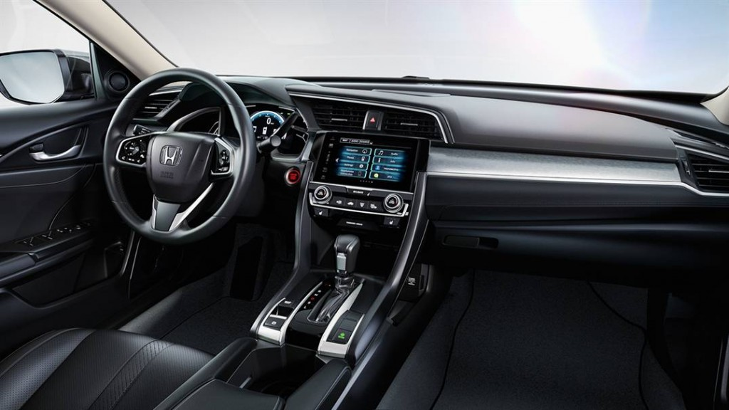 Interior del Honda Civic.