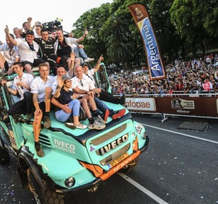 TEAM DE ROOY IVECO podium DAKAR RALLY 2017 - PODIUM FINAL - 14/01/2017 ASO/ @WORLD / A Vialatte.